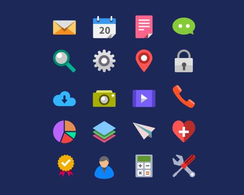 Flat Icon Set Design